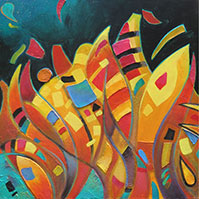 Boogie Woogie abstract painting
